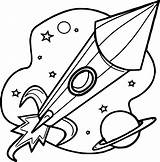 Coloring Rocket Astronaut Launcher Pages Wecoloringpage sketch template