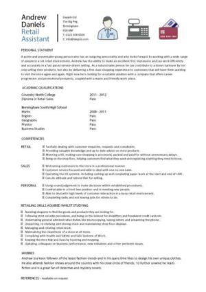Resume For Retail With No Experience by Entry Level Resume Templates Cv Sle Exles