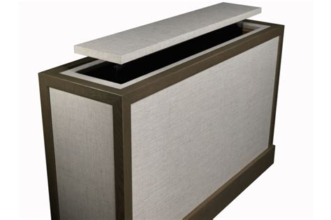 custom tv stand designs end of bed tv lift aqualina end of bed tv stand
