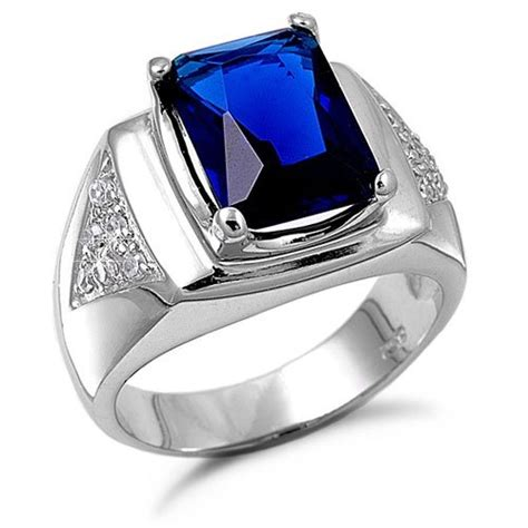 cincin blue blue sapphire rings vintage