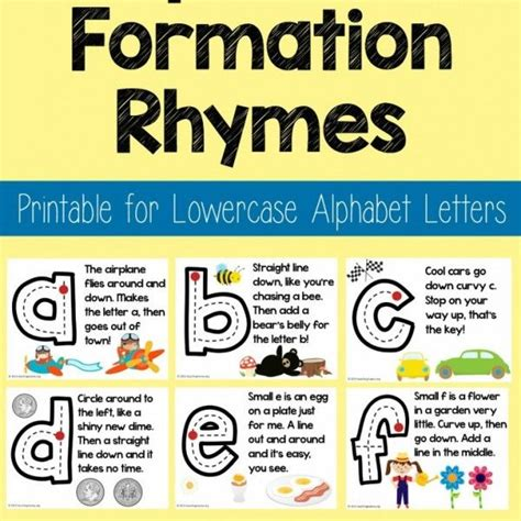 lowercase alphabet formation rhymes preschool