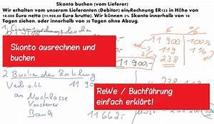 Skonto Berechnen Rechnungswesen : skonto ausrechnen und buchen im einkauf lernvideos ~ Themetempest.com Abrechnung