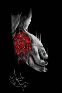 rose tattoo on hand by DForssten on DeviantArt