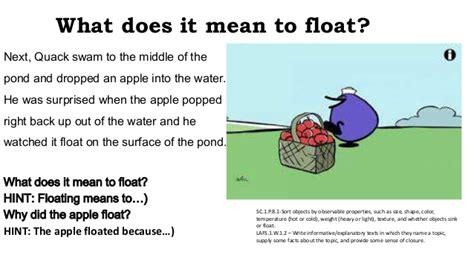 why do things sink or float online actions in writing lesley noel