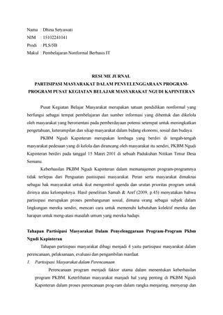 resume jurnal dhina  dhina setyawati issuu