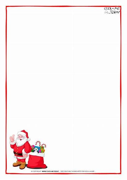 Letter Santa Blank Paper Template Claus Calendar