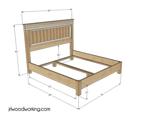 woodwork log bed frame plans  plans