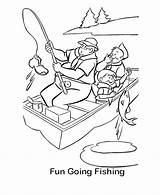 Fishing Coloring Sheets Boat Activity Going Scout Camping Printable Camp Drawing Boy Bestcoloringpagesforkids Adult Crafts Bluebonkers Popular sketch template