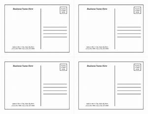 postcard template 1 With postcard template for pages