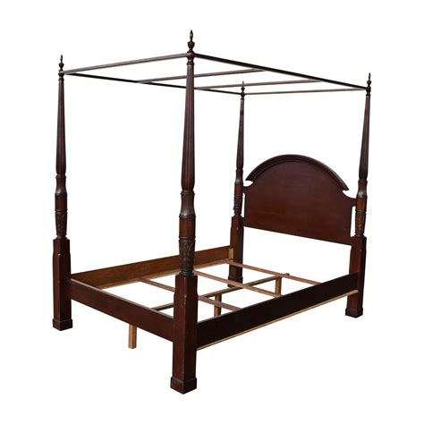 wood  poster canopy bed frame beds