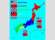 Proposed post WWII occupation zones in Japan similar to