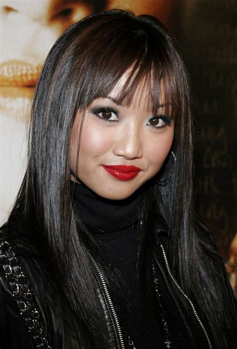 brenda song  natural  smooth black hair