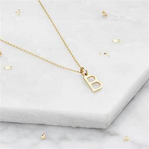 small silver or gold initial letter charm necklace by lily With small gold letter charms