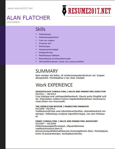 resume format 2018 16 templates in word