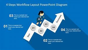 1 16 Pie Chart 4 Steps Workflow Layout Powerpoint Diagram Slidemodel
