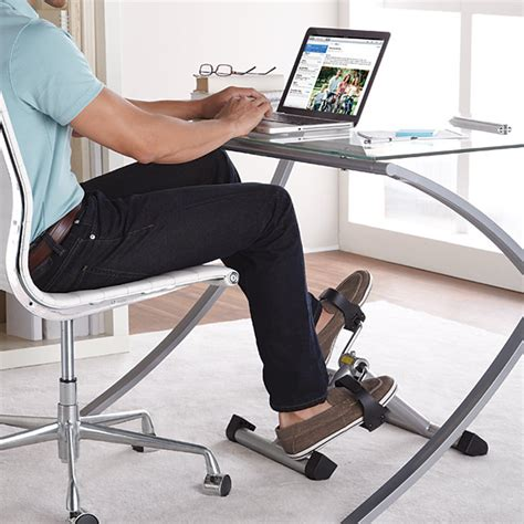under desk foot pedal exercise bikes to get you fit at work