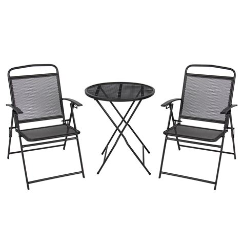 3 pc patio bistro set outdoor table and chairs wrough iron