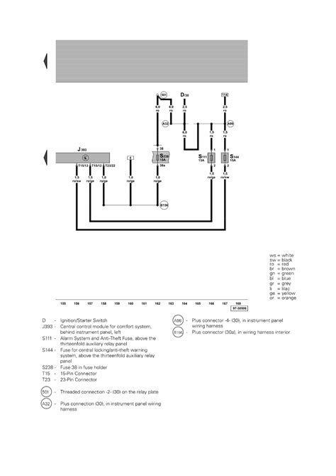 Passat Central Locking Wiring Diagram by Repair Guides Central Door Locking System 2003
