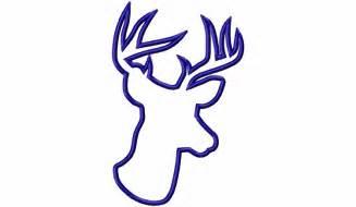 Deer Head Silhouette Applique Design