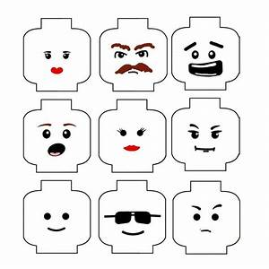lego face templates party party party pinterest With lego minifigure head template