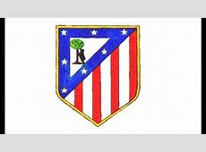 Como desenhar o escudo do Atlético de Madrid CA How to