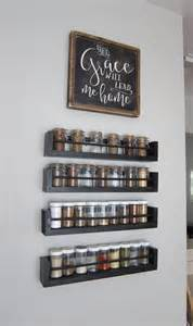 kitchen spice organization ideas kitchen wall spice rack small changes big impact
