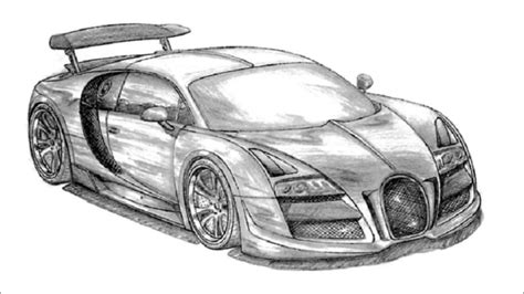 lovely lamborghini drawing easy 12 bugatti veyron super