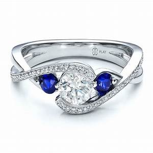 Cheap blue sapphire engagement rings wedding and bridal for Wedding rings blue