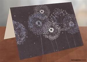 Pusteblume Schwarz Weiß Vögel : pusteblumen schwarz wei silber turnowsky kartenshop ~ Orissabook.com Haus und Dekorationen