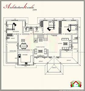 2500, Square, Feet, Kerala, Style, House, Plan, With, Three