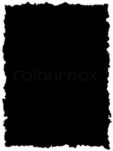 Black sheet of paper with torn edge | Stock Photo | Colourbox