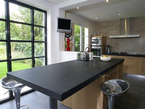 meuble table de cuisine meuble plan de travail cuisine cuisine meuble noir et