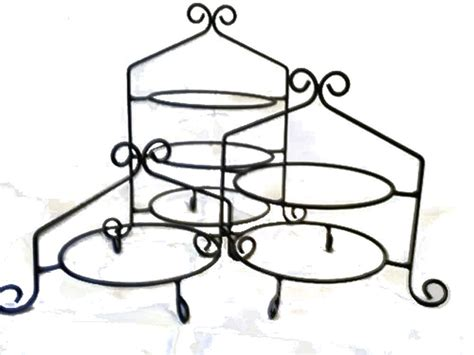 wrought iron cupcake display racks  pie stands great  primitive country  rustic