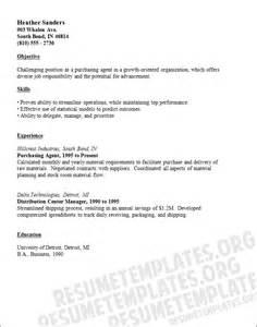 purchasing resume exles purchasing resume template buying cv sles