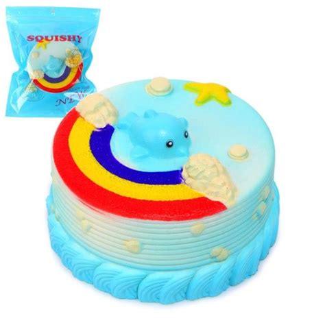 blue dolphin cake squishy no no squishy jumbo rainbow cake dolphin