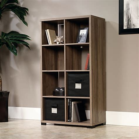 oak cube bookcase sauder transit collection cube style bookcase room divider