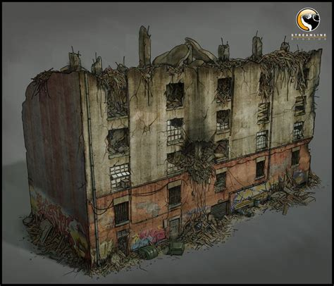 Terminator Salvation Destroyed Building Concept Art, Jose