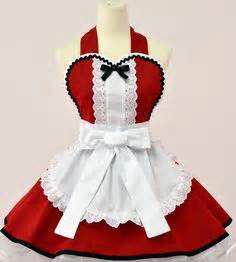 Alice in Wonderland Christmas Apron Red $57 00 via Etsy