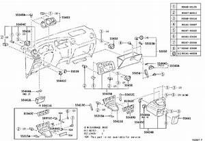 2003 Toyota Matrix Instrument Panel Trim Panel  Lower