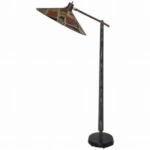 early 1950s ebonized cerused oak floor lamp with With camo floor lamp