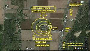 Conesville Events Maps Page With Zoomed Facility Detail