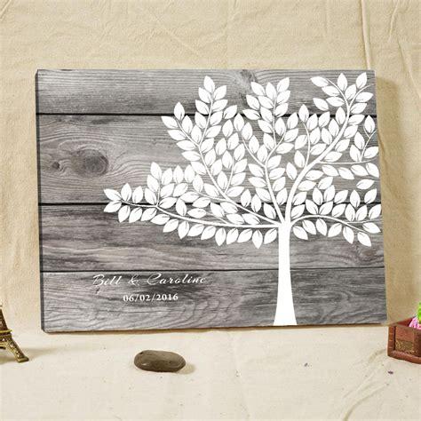 woodgrain signature guestbook fingerprint tree wood frame wedding guest book alternative rustic