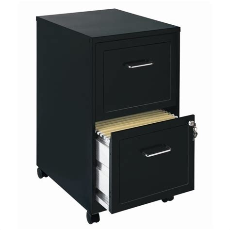 hirsh soho 2 drawer lateral file cabinet in black hirsh industries soho mobile 2 drawer file cabinet in black