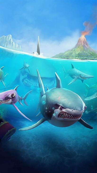 Shark Hungry Android Ios Megalodon Wallpapers Underwater