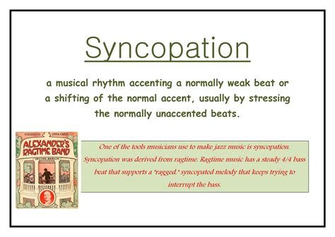 Also called counterpoint, counterpoint rhythm. Download syncopation definition @ Why do you think you should receive this scholarship paper ...