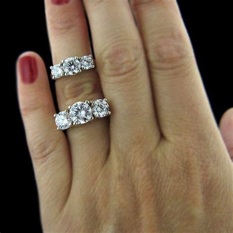 ellise three stone ring in 2019 wedding ideas