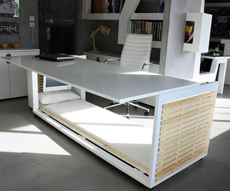 desk transforms into bed sluggish after lunch take a nap in this transforming desk