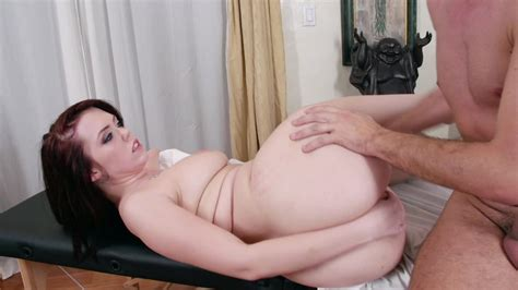 Big Milky White Ass Of The Redhead Fucked By A Fat Cock