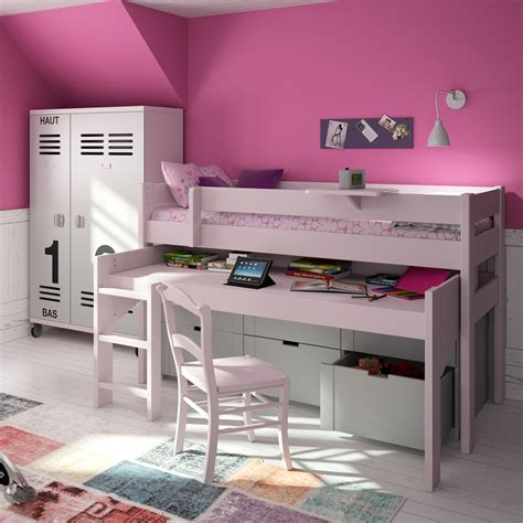 Mid Sleeper With Sofa Bed by High Sleeper Bed With Desk And Sofa Bunkbeds2u High