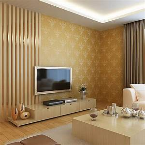 Shining glitter vintage gold d wallpaper wall decor